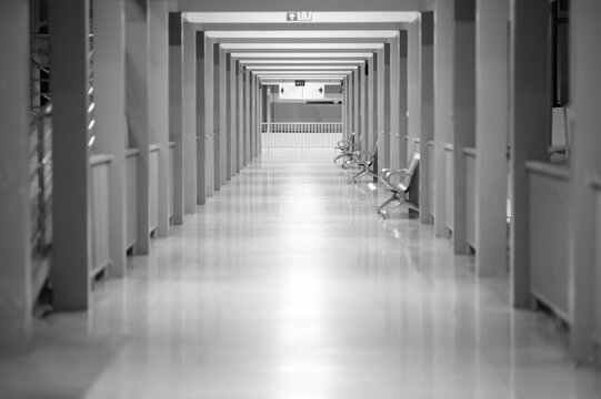 A long cover way in hospital,