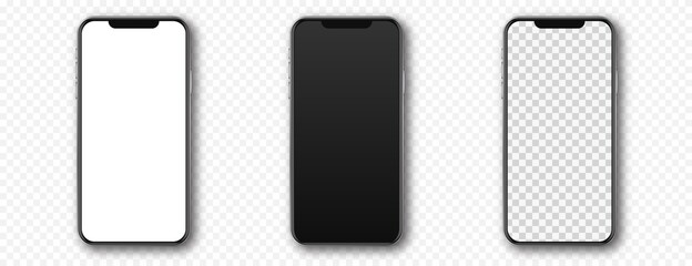 Obraz Set of smartphones, mobile phones or cellphones - fototapety do salonu
