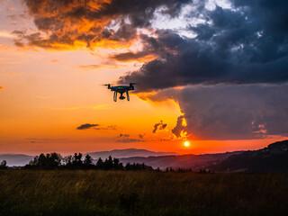 Fototapeta Zachód słońca, dron obraz