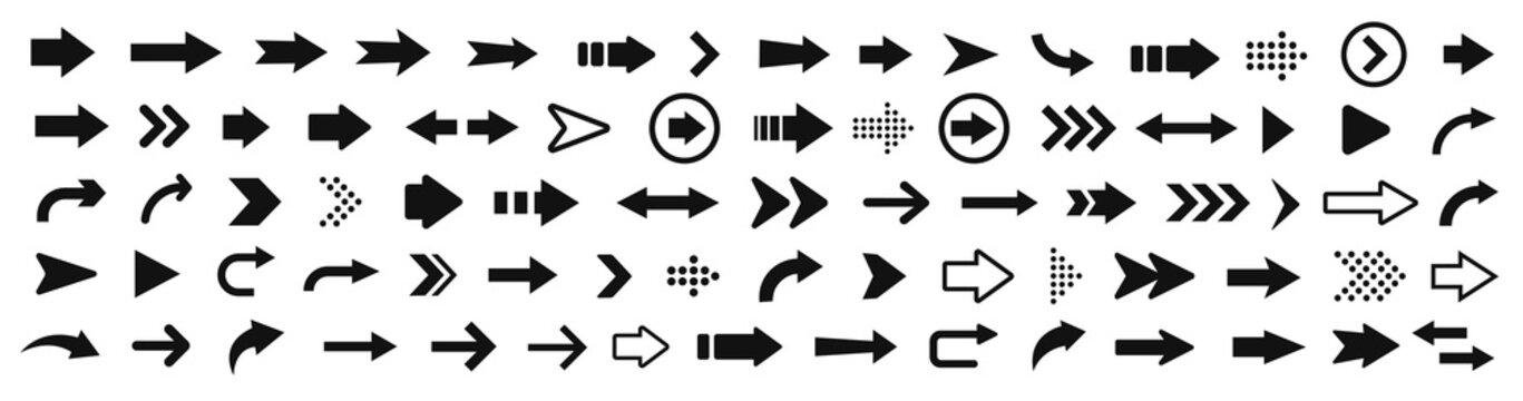 Arrow icon. Mega set of vector arrows