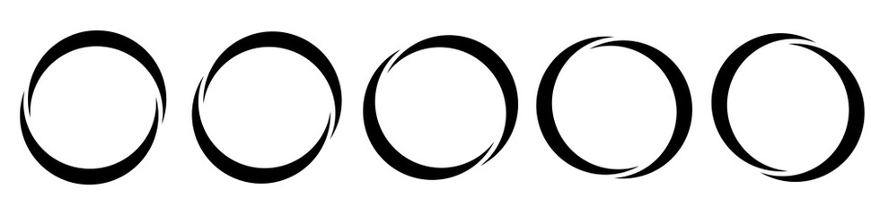 Fototapeta Circle, semicircle icon, symbol. Circular frame, border obraz