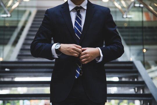 elegant hardworking man ready to act
