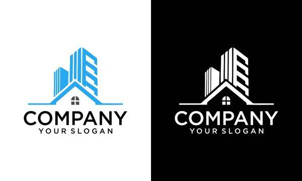 real estate , building architecture premium logo design. Architect construction logo template. Vector design icon for building company. Architectural and construction design, constructing building,