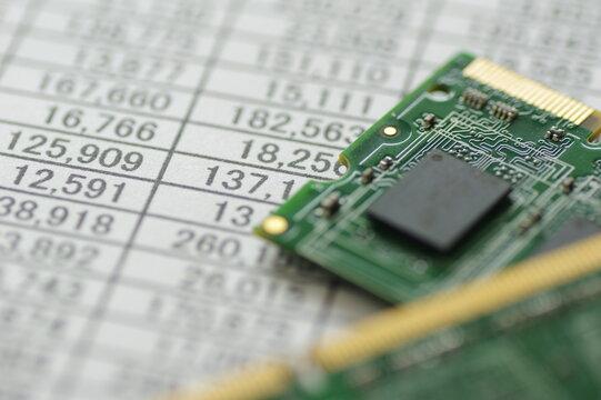 パソコンのメモリ(記憶部品、基盤)