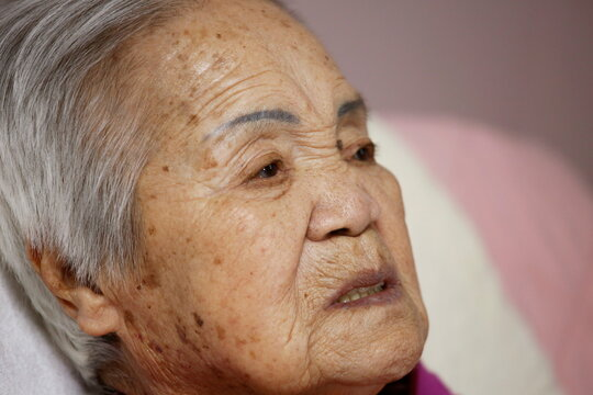 """Former South Korean """"comfort woman"""" Lee Ok-sun speaks during an interview with Reuters at the House of Sharing in Gwangju-si"""