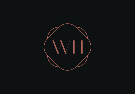 Initial letters WH logo design template