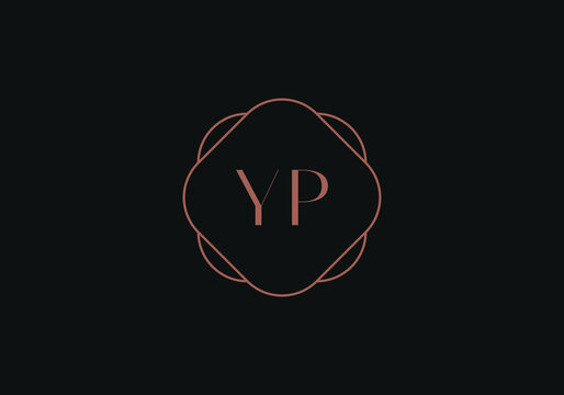Initial letters YP logo design template