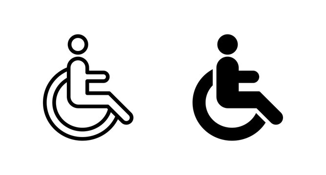 Disabled icon vector for web, computer and mobile app