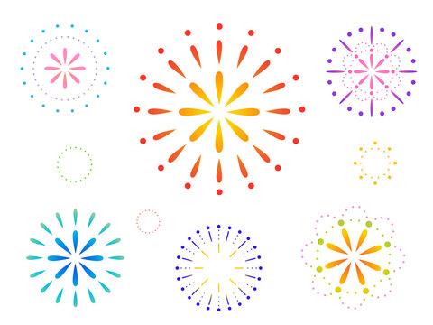 グラデーションが美しい花火の背景グラフィック素材