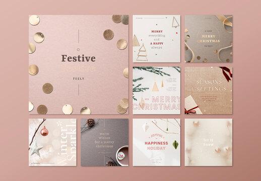 Christmas Banner for Social Media Advertisement