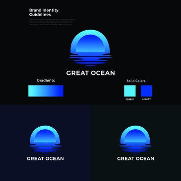 Oceans Blue Logo Template