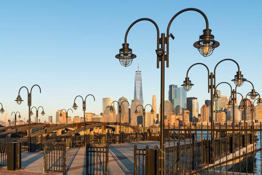 Liberty State Park and Manhattan skyline, New Jersey, USA