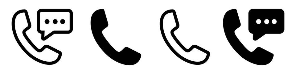 Obraz phone icon set, Telephone call sign, Contact us,  Vector illustration - fototapety do salonu
