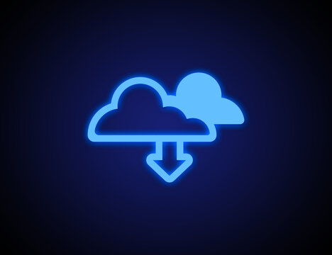 Cloud technology icon for global business concept illustration