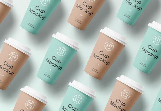 Big Paper Cups Mockup