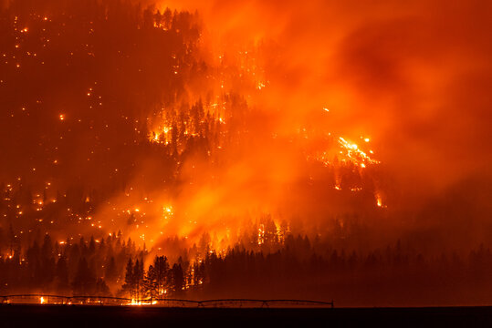 California wildfire burns out of control