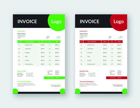Invoice Design eps