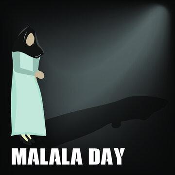 world malala day concept.illustration vector
