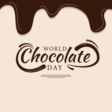 world chocolate day background, suitable for posters, social media posts, and others