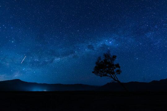 Milky way over Mount Bromo, Bromo-Tengger-Semeru National Park, East Java, Indonesia