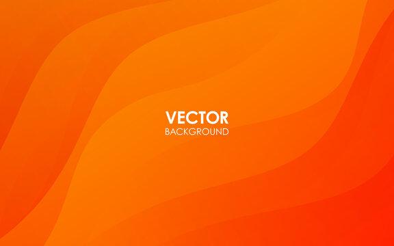 オレンジ色のベクター素材の背景