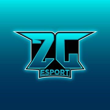 ZJ Initial Gaming Logo ESports Geometric Designs