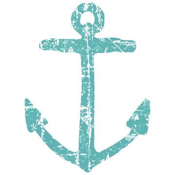 anchor vintage blue boating sailing art crewneck sweat Design vector illustration