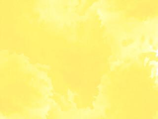 Fototapeta Bright yellow watercolor texture design background obraz