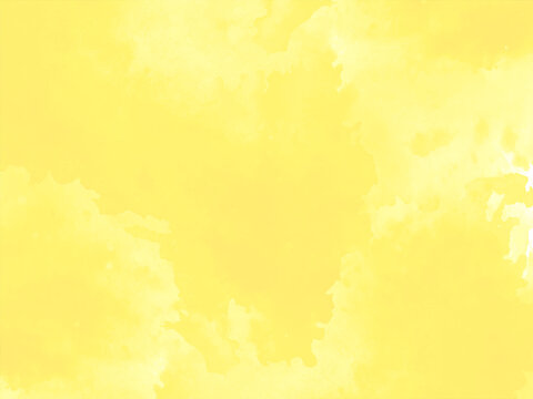 Bright yellow watercolor texture design background