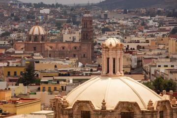 Obraz Daytime view of the urban skyline of Zacatecas City, Zacatecas, Mexico. - fototapety do salonu