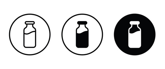 Fototapeta milk bottle icon, milk icons button, vector, sign, symbol, logo, illustration, editable stroke, flat design style isolated on white linear pictogram obraz