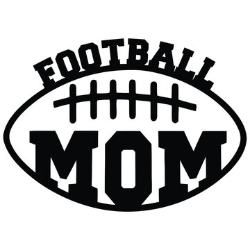 american football mom son wo art loose fit Design vector illustration for use in canvas poster design