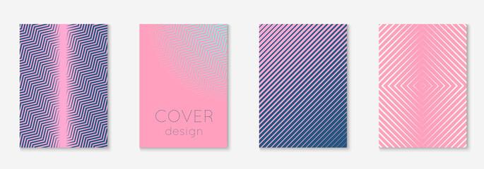 Fototapeta Line geometric elements on minimalist trendy cover template. obraz