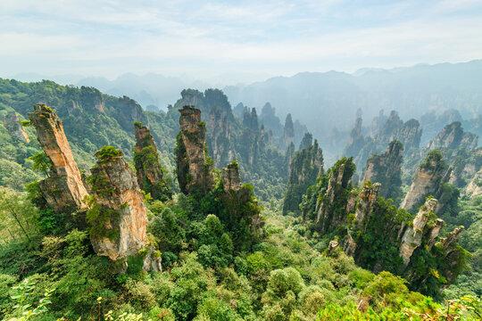 Awesome view of quartz sandstone pillars (Avatar Mountains)