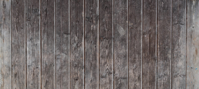 Wood texture panoramic header for background wooden with planks brown horizontal