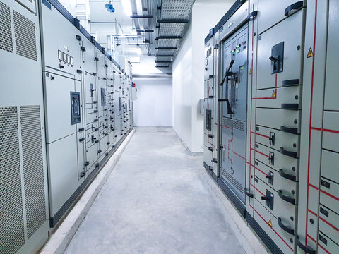 Electrical control room in the building