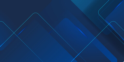 Obraz Modern dark blue squares design background. Suit for business corporate presentation background and futuristic technology concept - fototapety do salonu