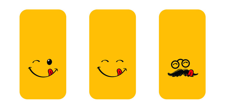 World smile day by happy and smiling everyday Smart phone cover Mobile phone case Funny vector covers sign Smartphone, tablet cases icons set Background screen Fun quote for  Social Media Love month