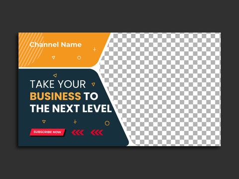 Editable Digital marketing agency and corporate youtube thumbnail or web banner template.