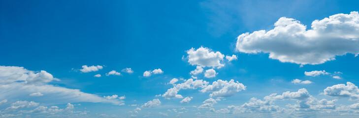 Fototapeta many white clouds in the blue sky obraz