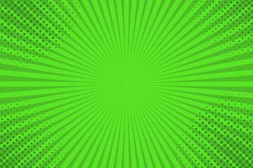 Green pop art background design. Vector illustration.