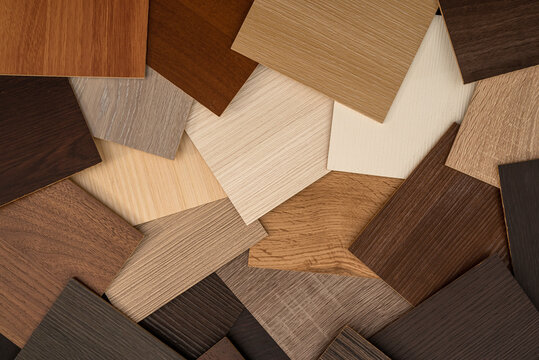 vinyl  wooden  samples with different  type of wood texture