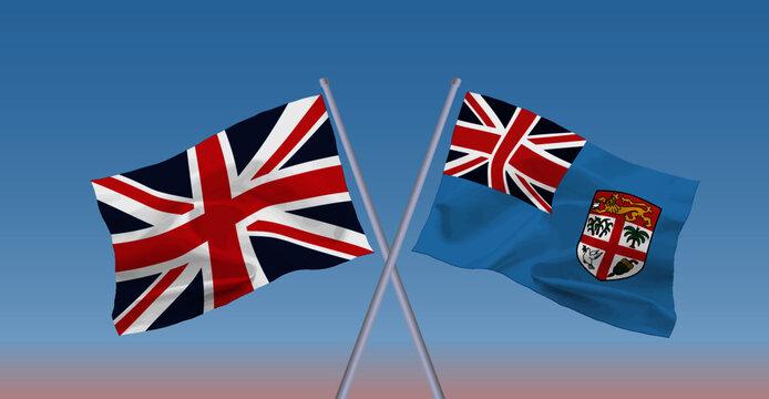 イギリスとフィジー共和国の国旗