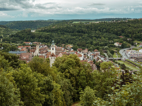 Blick auf Horb am Neckar, Baden-Württemberg
