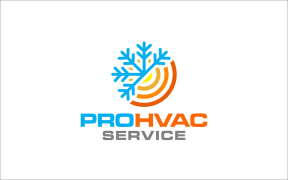 Illustration graphic vector of plumbing, heating and cooling service Logo Design template