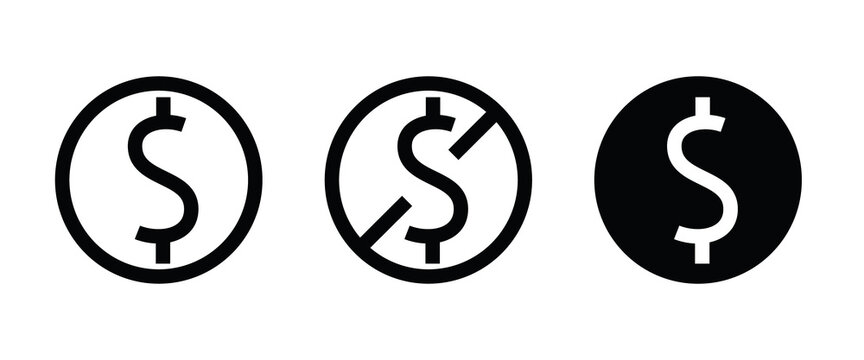 dollar money cash icon, payment Coins Finance coin earnings icons button,vector, sign, symbol, logo, illustration, editable stroke, flat design style isolaated on white linear pictogram