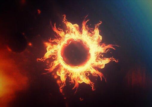 燃え上がる炎の輪