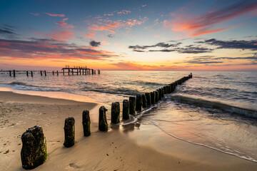 Obraz Beautiful sunset on the Baltic Sea - fototapety do salonu