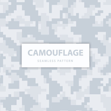 Military and army pixel camouflage seamless pattern