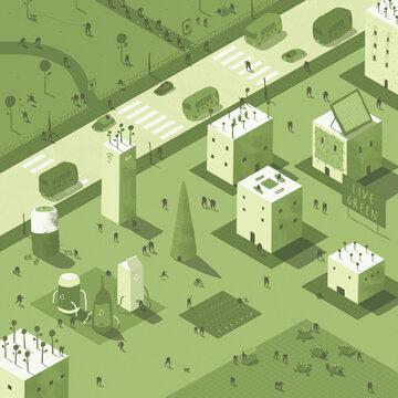 Green Living - Isometric City